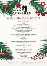 Nuestra propuesta para despedir 2017 en Restaurante Los Bandidos.
