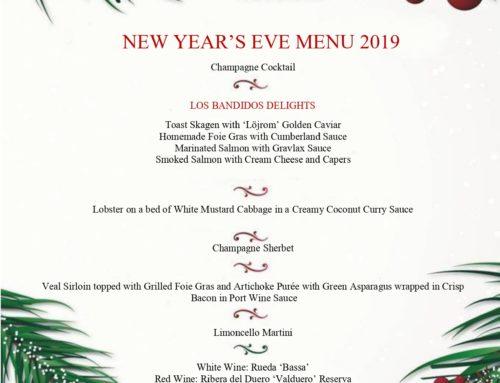 Nueva carta de fin de año en Restaurante los Bandidos